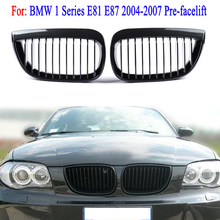 цена на MagicKit Grille for BMW E87 E81 1 Series 2004 - 2007 Pair Left & Right Car Front Sport Kidney Grill Grilles Carbon Fiber Look
