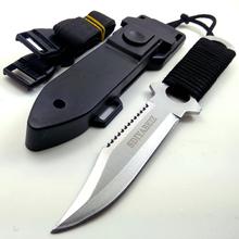 Profesjonalne legginsy nóż do nurkowania z ABS powłoka Survival noże myśliwskie Camping szabla dostaw z kuchni Camping noże tanie tanio SDIYABEIZ Maszyny do obróbki drewna STAINLESS STEEL Tytanu Fixed blade knife TOOLS Hunting Knife Multi Functional Knife