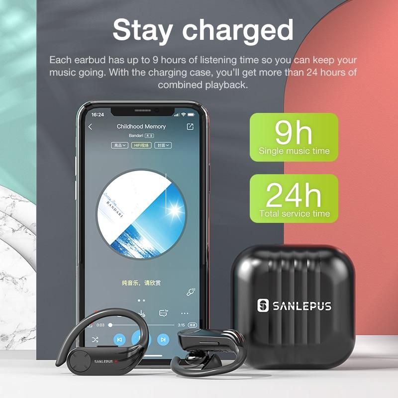 SANLEPUS TWS B1 draadloze bluetooth hoofdtelefoon high-performance - Draagbare audio en video - Foto 4