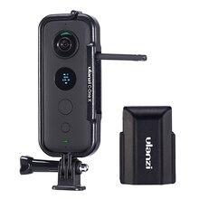 Cadre de étui de protection en plastique Ulanzi pour Insta 360 une X Cage de boîtier avec capuchon dobjectif de caméra