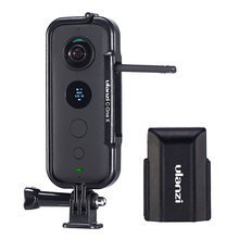 Ulanziプラスチック保護ケースフレームためinsta 360 one x住宅ケージとカメラレンズキャップアクションカメラアダプタキット
