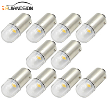 10 Pcs 1SMD 6V Bay9s Bax9s H6W Ba9s Led Auto 2835 T4W Klaring Licht Interieur Parking Tail Lamp Achter fog Lamp Auto Styling