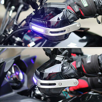 Motorcycle Handguard Moto Hand Guard with LED For kawasaki z750 yamaha fjr 1300 bmw 1200 gs kawasaki vn800 aprilia tuono v4