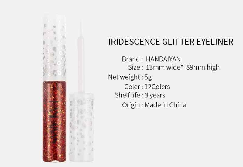 Handaiyan Warna-warni Mutiara Glitter Liquid Eyeliner Makeup Profesional Mengkilap Eyeshadow Pena Kosmetik Alat Kecantikan TSLM1