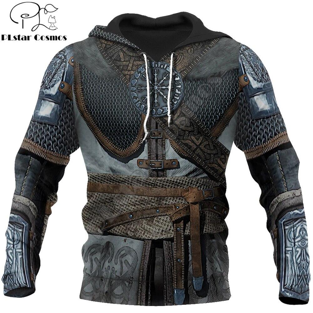 Viking Armor - Tattoo 3D All Over Printed Men hoodies Harajuku Fashion hooded Sweatshirt Unisex Casual jacket Zip Hoodie WJ002
