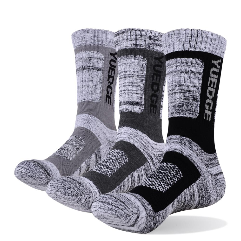 YUEDGE 3 pairs of men's socks men's compression stockings business casual cotton men's formal socks plus size 38-46