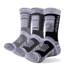 YUEDGE 3 pairs of mens socks compression stockings business casual cotton formal plus size 38-46