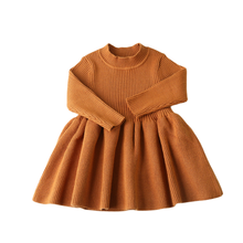 Autumn Winter Girls Wool Knitted Sweater Baby Girl dress Girls Dresses For Party And Wedding Baby Girl Clothes