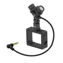 Nóng 3C Comica CVM MT06 Chuyển Động Micro XY Stereo Kép Mic Cardioid Ngưng Tụ Camera Hành Động Video Mic Cho DJI Osmo Bỏ Túi (3.5M