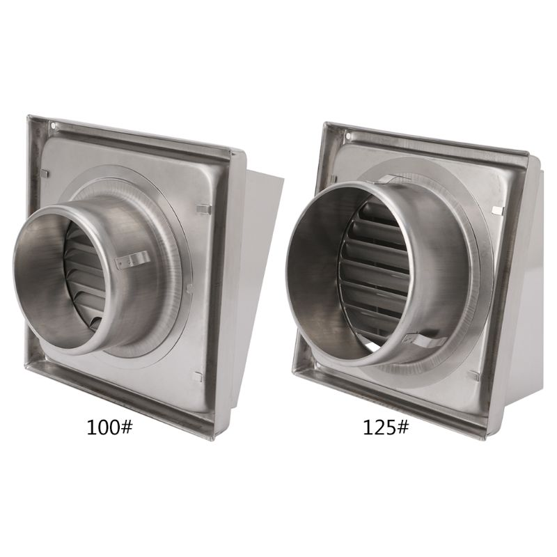 1 Pc Silver Wall Air Vent Grille Diffuser Ducting Ventilation Cover Extractor Outlet Louvres