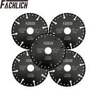 FACHLICH 5pcs Diamond Cutting Blade for All Purpose Demolition Saw Blade one for all Cutting Disc Rebar Granite Marble Concrete