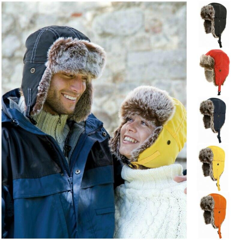 Airman Snow Hat Ushanka Winter Warm Russian Hat Ski Fur Pilot Military Army Fashion Casual Unisex Multifunction Coldproof Cap