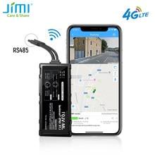 Lte gps localizador wifi hotspot rs485 porta condução comportamento JM-VL01LA à prova dwaterproof água com óleo corte de monitoramento de combustível acc sos por app pc