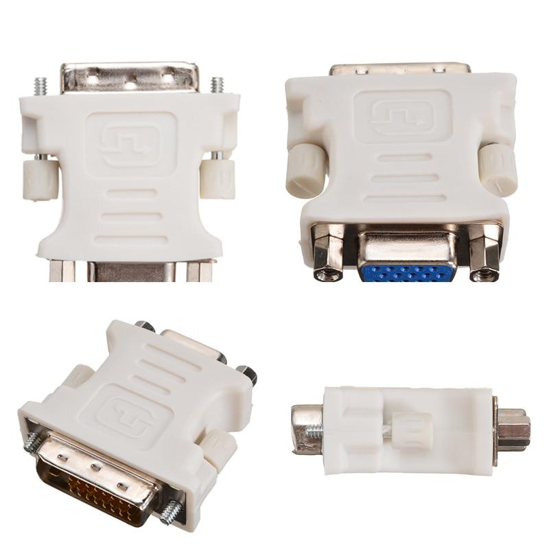 Onsale DVI-D к адаптерам VGA белый 24 + 1 pin DVI-D папа к 15 Pin VGA Женский адаптер видео конвертер для ПК Аксессуары для ноутбуков