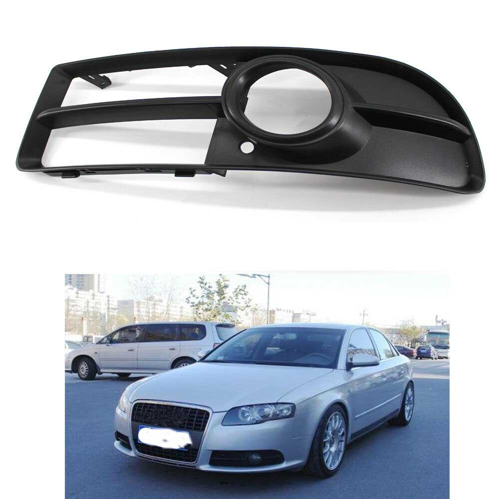 Front Lower Bumper Fog Light Grille <font><b>Grill</b></font> Left Side for <font><b>Audi</b></font> <font><b>A4</b></font> <font><b>B7</b></font> S-line S4 05-08 8E0807681F Not for <font><b>Audi</b></font> <font><b>A4</b></font> Base Sedan 4 Door image