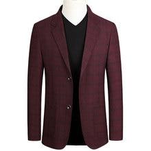Spring Autumn Men's Business Casual Blazer Men Single Breasted Slim Fit Suit Jac