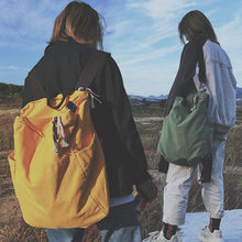Nova moda mochila de viagem de alta capacidade mochila portátil lona feminina mochila para adolescentes menina mujer