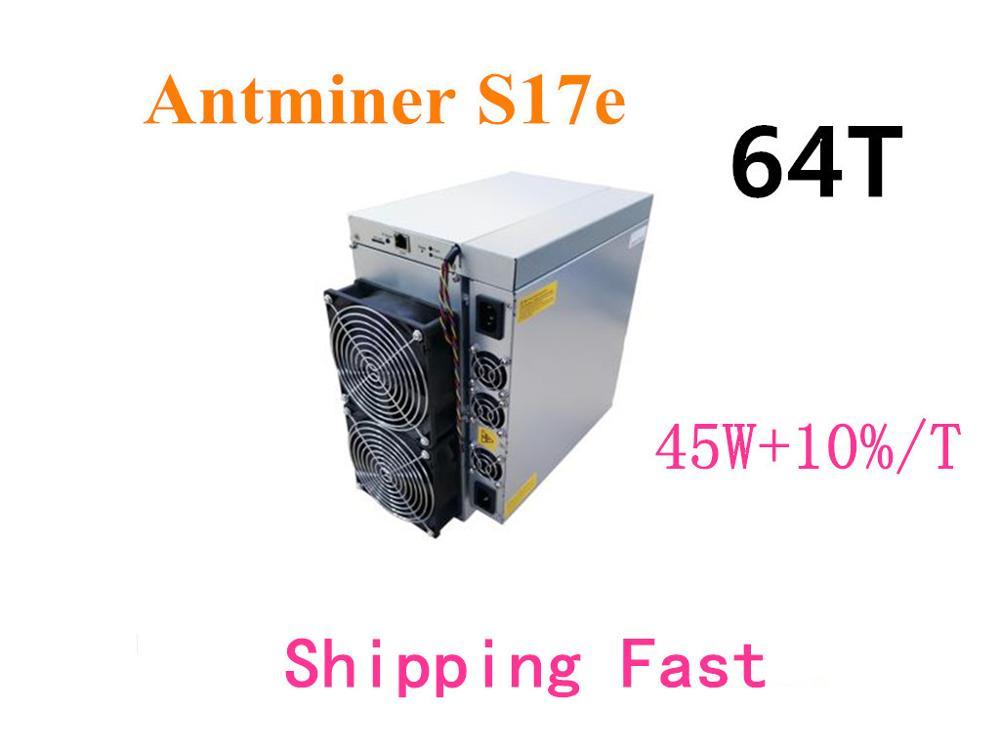 AntMiner S17e 64TH/S con PSU BTC BCH minero mejor que S9 S15 T17 S17 Pro WhatsMiner M3 M21S M20S Ebit E9i + E10 Innosilicon T2T BTC minero amor Core Aixin A1 25T con PSU económico que Antminer S9 S15 S17 T9 + T17 WhatsMiner M3X M21S Innosilicon T2T Ebit
