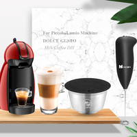 Reusable Capsule Stainless For Dolce Gusto Coffee Lumio/Piccolo Machine Stainless Steel Metal Refilable Filter Basket