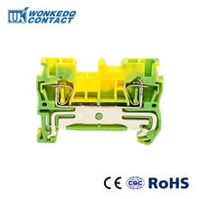 10Pcs ST-2.5PE Instead of PHOENIX CONTACT Connectors Return Pull Type Spring Cage Connection Ground Terminal Blocks Screwless
