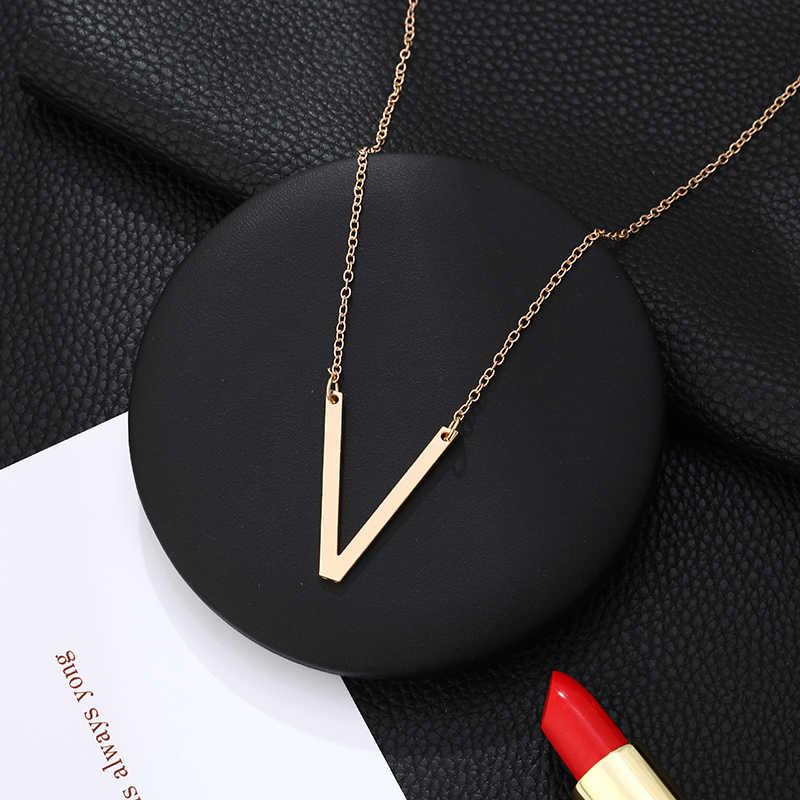 Nowy duży naszyjnik listowy mężczyźni i kobiety pary naszyjnik wisiorek biżuteria nowoczesny moda spersonalizowany naszyjnik biżuteria