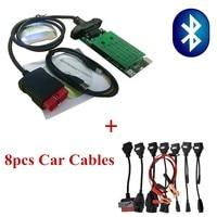 NEW VCI for Delphis vd ds150e Pro Plus 2015R3 keygen OBD cars truck diagnostic 8pcs car cables adapter mulitidiag