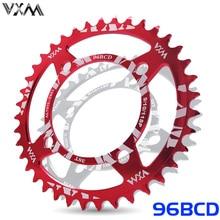 цена VXM New tooth profile Chainwheel 96BCD 32T/34T/36T/38T Round Narrow Wide Chainring MTB Bike Crankset Chainwheel Bicycle Parts онлайн в 2017 году