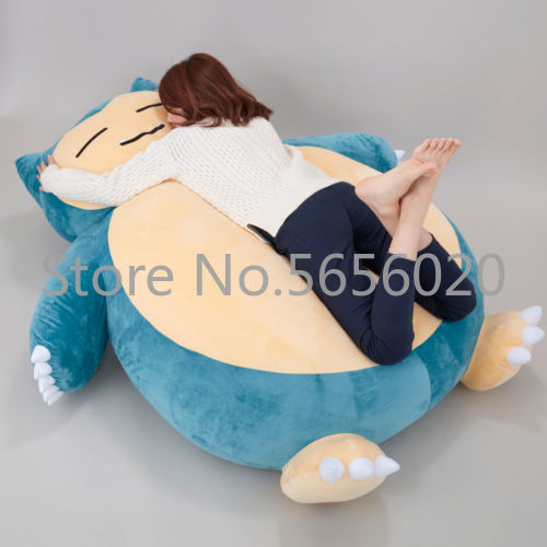 "59"" Plush Anime Soft Stuffed Animal Doll Snorlax Plush Toys Pillow Bed ONLY COVER WITH ZIPPER For Kid Gif Doll Children's Day"