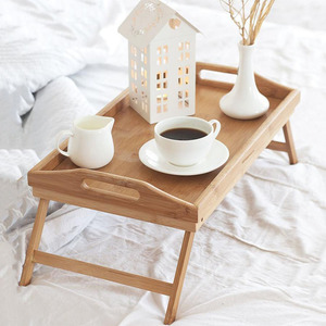 Image 1 - Foldable Portable Bamboo Laptop Desk Notebook Dining Table for Sofa Bed Laptop Table on The Bed Tables Standing Lap Desk Table