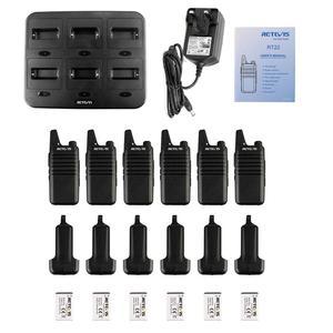 Image 5 - Mini talkie walkie pratique 6 pièces chape RT622 PMR Radio RT22 FRS talkie walkie + chargeur à Six voies hôtel Restaurant supermarché