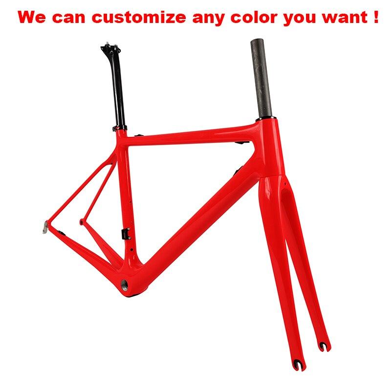 Carbon-Road-Bike-Frameset Superlight with Seatpost/handlebarultra-Light 975g Di2/mechanical