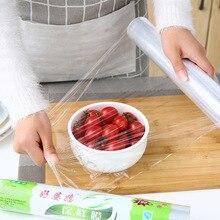 20 m PE disposable plastic saran wrap Kitchen refrigerator food cling film fruits vegetables packaging keep fresh storage bags