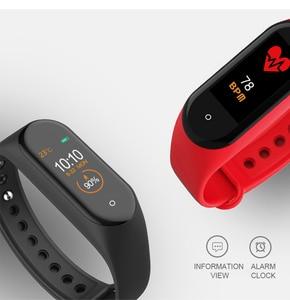 Image 4 - Smart Band Fitness Trcker M4 Sport Bracelet Pedometer Heart Rate Blood Pressure Bluetooth Health Wirstband Waterproof Smartband