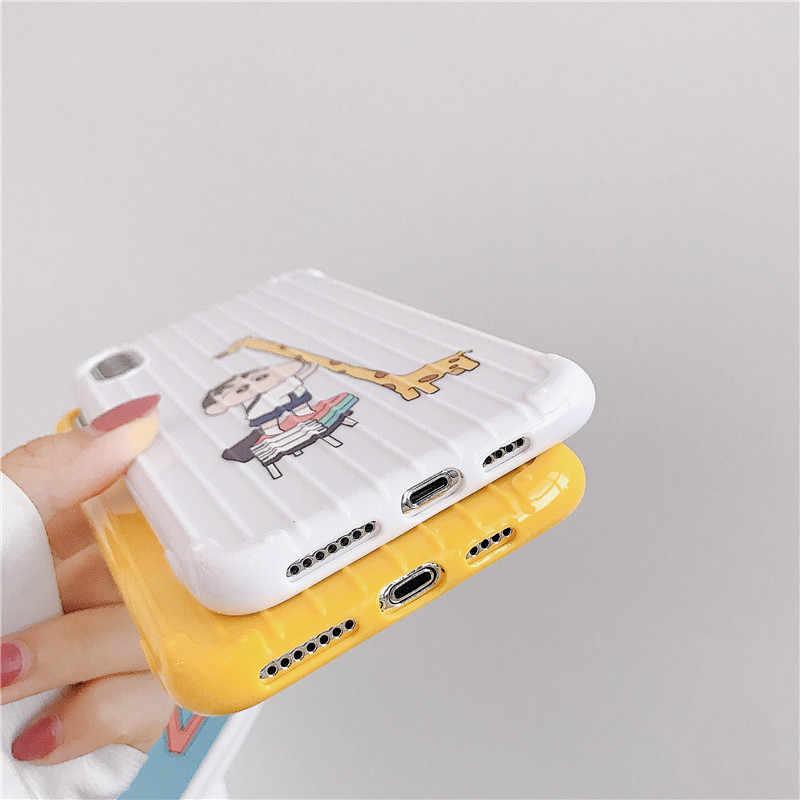 Mignon Crayon Shinchan Bagages étui pour Vivo Y67 Y85 Y3 Y93 Silicone Souple Couvre Vivo X9s X20 X21 X21s X23 Magique X27 V15 S1 Z3 Z5X