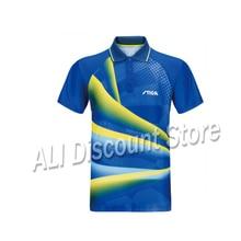 Stiga Table tennis clothes sportswear quick dry short sleeved men ping pong Shirt Badminton Sport Jerseys S032301S