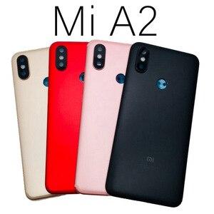 Image 2 - Carcasa trasera para Xiaomi Mi A2, carcasa trasera para batería, reemplazo de botón de volumen de encendido