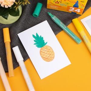 Image 5 - Arrtx caneta marcadora de tinta, 24 cores conjunto de acrílico permanente, diy, caneta de marcador de tinta, selvagem, vidro, cerâmica pintura de madeira