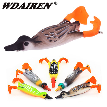 1Pcs Propeller flipper duck Fishing Lure Ducking Fishing Frog Lure 9.5cm 11.2g Artificial Bait Duckling 3D Eyes Day Baits Bass