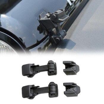 Para Jeep Wrangler TJ 1997-2006, Kit negro de corchetes de captura de bloqueo con tapa superior