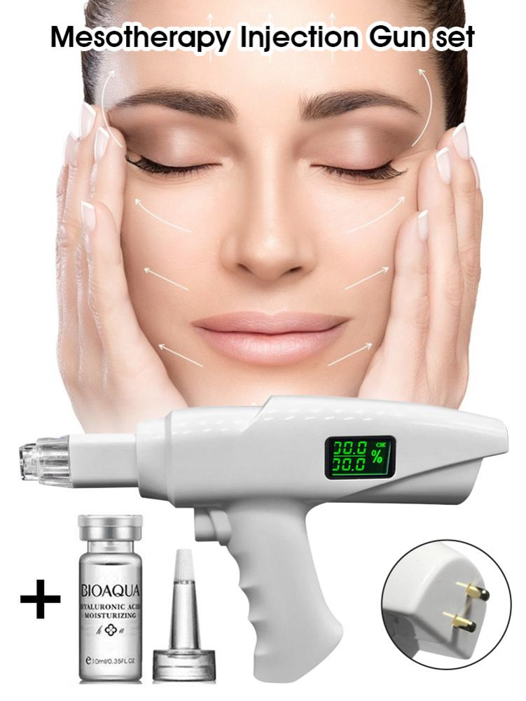 Electric Beauty Instrument Hydro Vacuum Mesotherapy Vanadium Titanium Meso Gun + Hyaluronic Acid Needle-free Water Meter For Pai