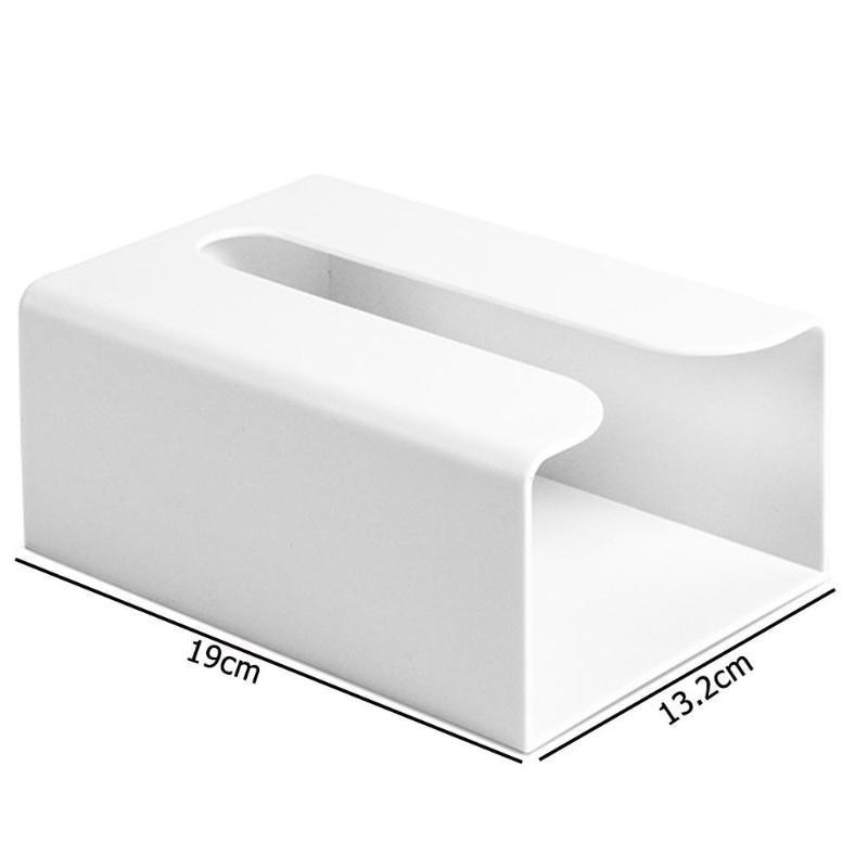 Настенная коробка для салфеток, кухонная коробка для хранения бумаги, держатель для бумажных полотенец, коробки для туалетных салфеток, бумажная коробка для хранения - Цвет: Белый