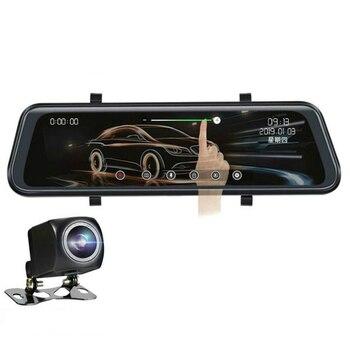 10 inch Stream Media Car DVR Dual Lens HD 1080P 32G Rear View Mirror Video Recorder Dash Cam