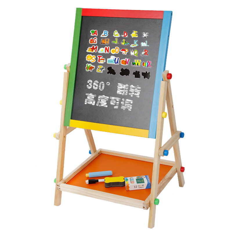Children's Baby Drawing Board Double Sided Magnetic Household Small Blackboard Adjustable Easel Braced Drawing Graffiti Writing