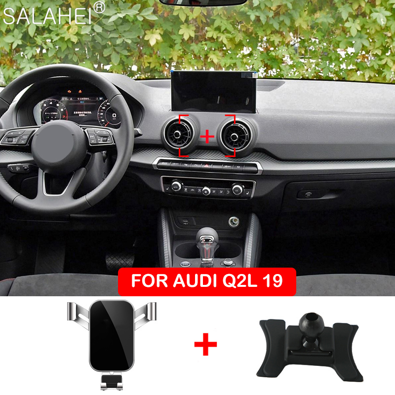 Mobile Phone Holder For Audi Q2 Dashboard Mount GPS Phone Holder Clip Clamp Stand In Car Interior For Iphone Xiaomi Huawei