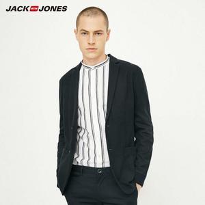 Image 3 - Jackjones básico masculino algodão & linho fino ajuste blazer longo mangas compridas terno jaqueta nova marca masculina 218308505
