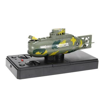 цена на RC Submarine Mini Boat 3.7V Plastic Mini Submarine Boat RC Toy Remote Control Boat Waterproof Diving Gift for Kids (Black)