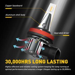 Image 4 - AUXITO 2 uds H8 luces antiniebla para coches H9 H11 3000K 6500K llevó la lámpara de niebla para Audi A3 A4 B6 B8 A6 C6 80 B5 B7 A5 Q5 Q7 TT 8P 100 8L 12V 12V