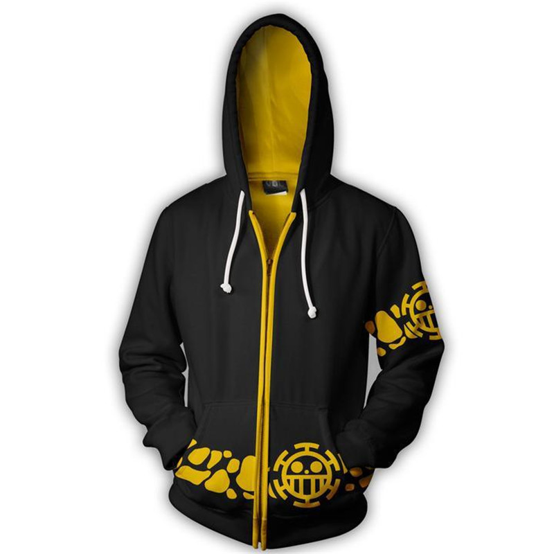 Fans Wear 3d Printed One Piece Trafalgar Law Cosplay Hooded Sweatshirts Men Hoodie Monkey D. Luffy Sweatshirt