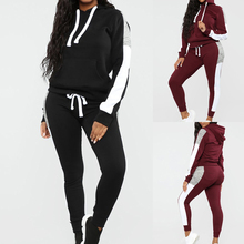 New Women Jogging Suits Running Set Hoodies Tracksuit Sweat Pants Jogger 2pcs Sportswear Female Winter Sport Suit