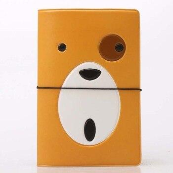60PCS / LOT Cartoon Animal Passport Cover Cute Dog Wallet Bag PU Leather ID Address Holder Portable Boarding Card Case